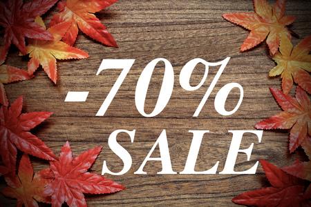 偽のカエデの葉と秋の販売 写真素材