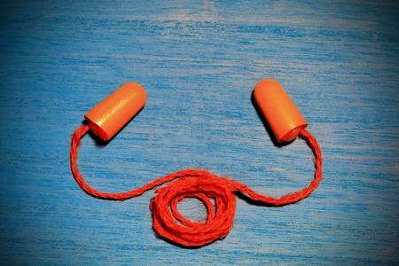 耳栓 写真素材