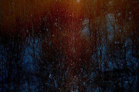 Sun pillar 写真素材