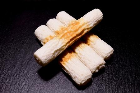 bamboo. shaped fish paste cake Stock Photo - 99786917