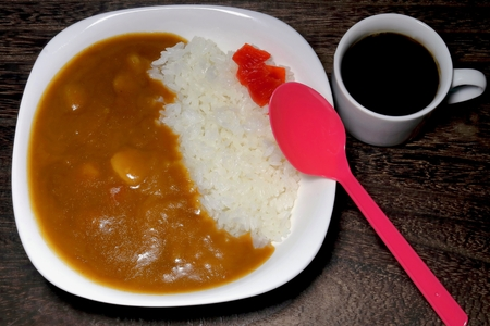 Curry and rice (home cooking)