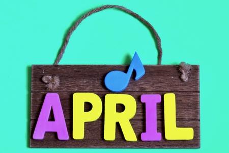 4月と掲示板と桜