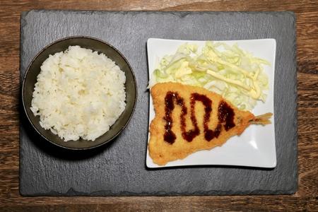 deep-fried horse mackerel Фото со стока
