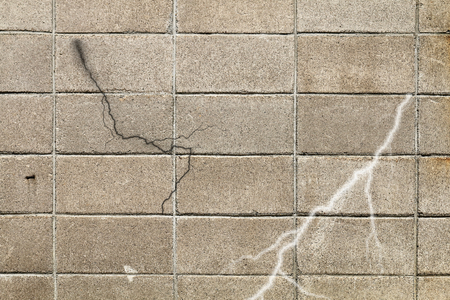 Cracking processing of block fencell Stock Photo
