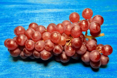 Grape on blue