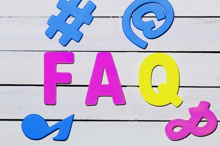 FAQ on white board