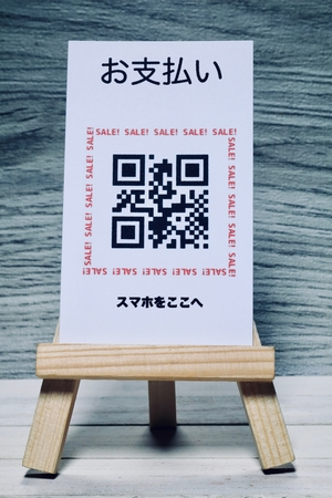Cashless society  Payment.The QR code is 000000000