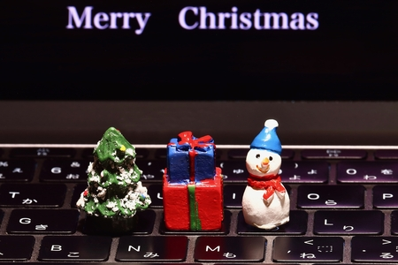 Christmas on the keyboard