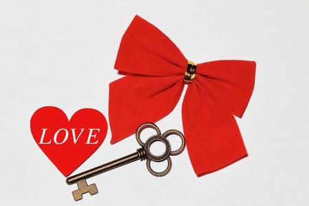 LOVERibbon and key and LOV
