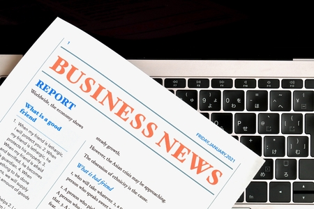 My own business news  Newspaper created by oneself 写真素材