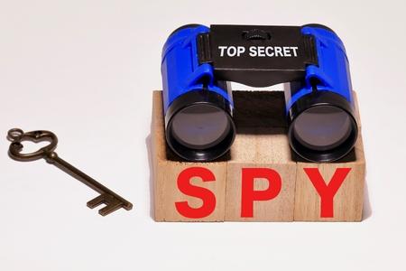 SPY Binoculars with key