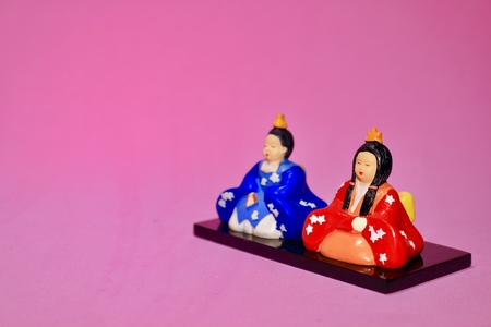Hinamaturi Doll is what I bought at 100 yen shop. It is mass-produced. Фото со стока