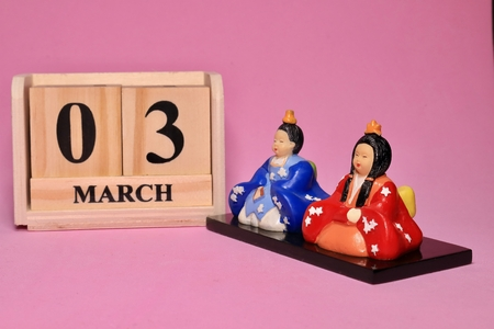 Hinamaturi and Calender Doll is what I bought at 100 yen shop. It is mass-produced. Фото со стока - 116548882