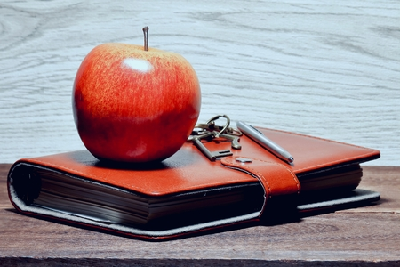 Apples and notebook