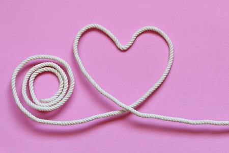 Heart-shaped made with rope
