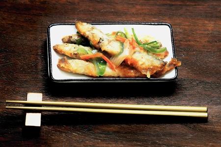 Tatsuta fried capelin 写真素材