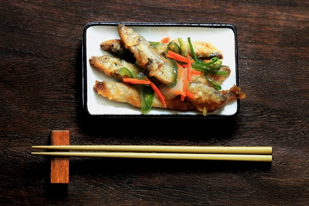 Tatsuta fried capelin Stock fotó