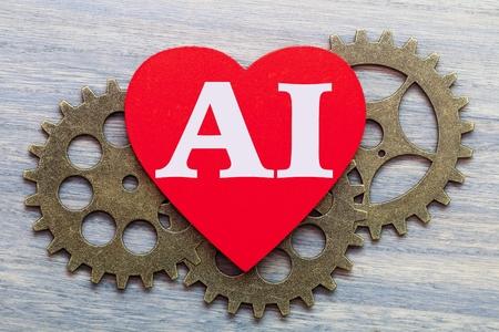 Machine and Heart. AI Singularity. Imagens - 119900633