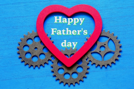 Happy Father's day and gears 写真素材