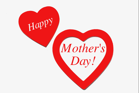Heart and Happy Mothers Day
