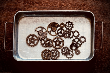 Metal dish and Gear