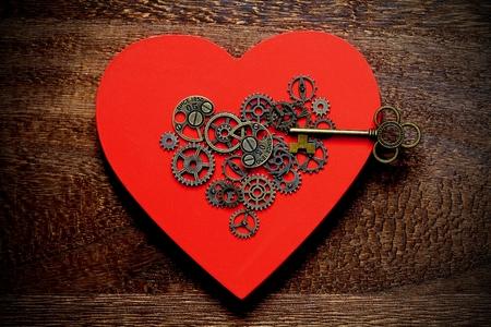Mechanical Heart and key