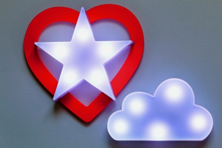 Marquee lights and Heart