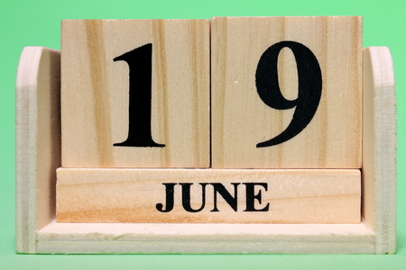19th June  on Wooden Banque d'images