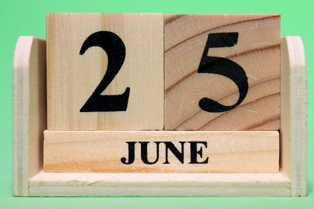 25th June  on Wooden