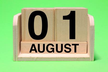 AUGUST Calendar background. 写真素材