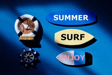 Surf equipment background.