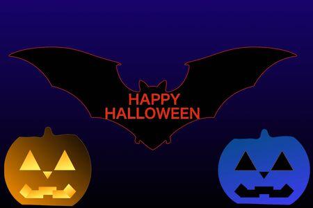 Halloween and batHalloween Imagens