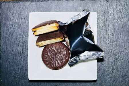 Chocolate pie Reklamní fotografie