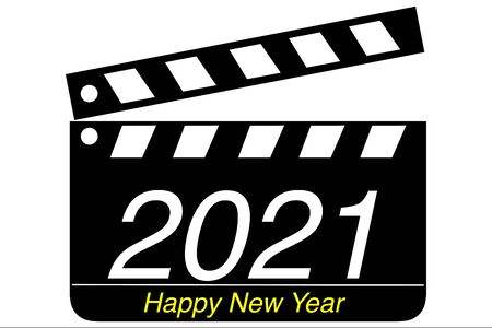 Clapperboard and 2021