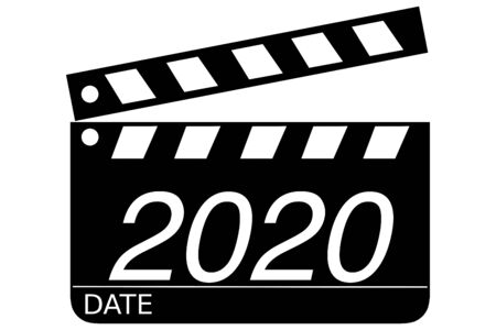 Clapperboard and 2020
