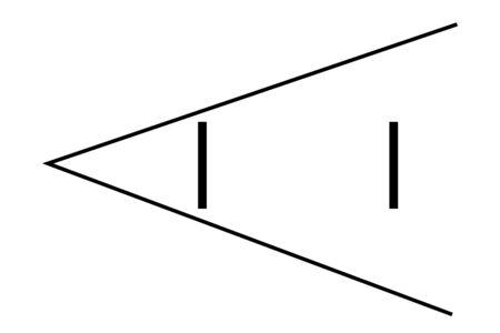 Optical illusion  line segment 写真素材