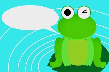 Frog and pond