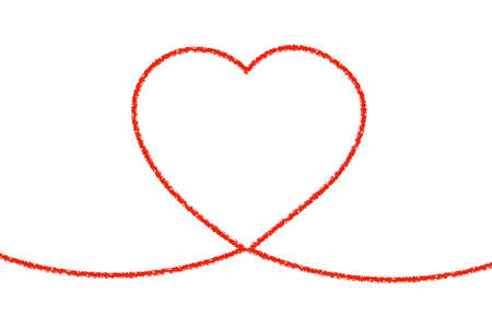 Heart Line Art Line drawing of heart  heart, string, line, thread, red thread, bond, knot, picture, love, couple, partner, trembling, vibration, valentine, red, design, simple