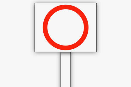 Round placards Circle and Placard 写真素材