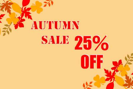 Autumn Sale Autumn SALE Archivio Fotografico