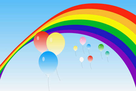 Rainbows and balloons Banque d'images