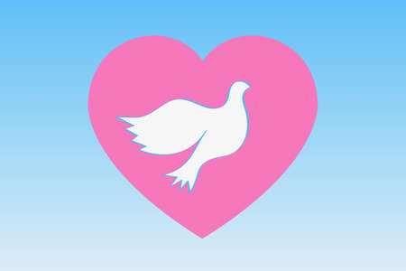 Heart and Dove Heart and pigeon