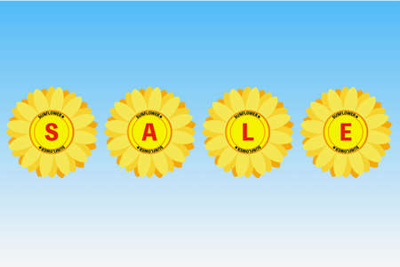 Sunflowers and Sale Sunflower and sale Banque d'images