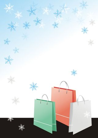 Shopping bags on christmas background Stock Photo - 2159031