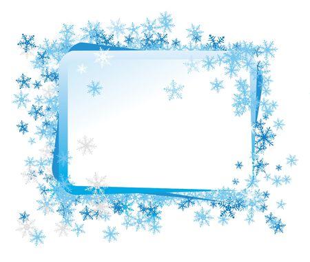 Celebratory framework, a border decorated by a frosty pattern photo