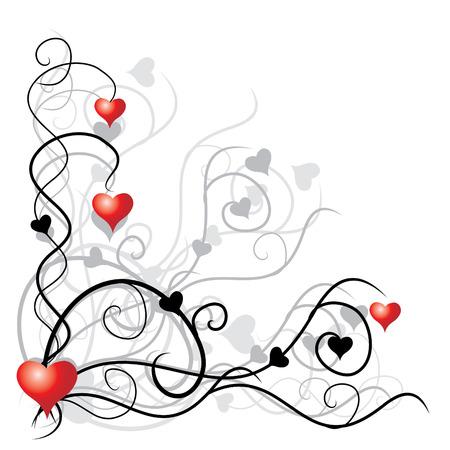 Valentijns achtergrond met plaats voor uw tekst