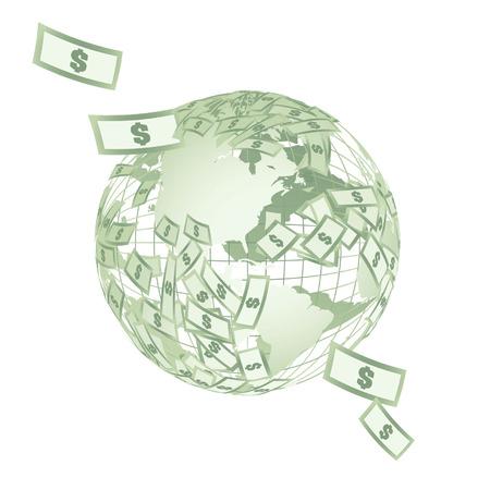 Globe from monetary denominations Vector