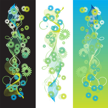 Abstract summer background, retro scroll Stock Vector - 2558679
