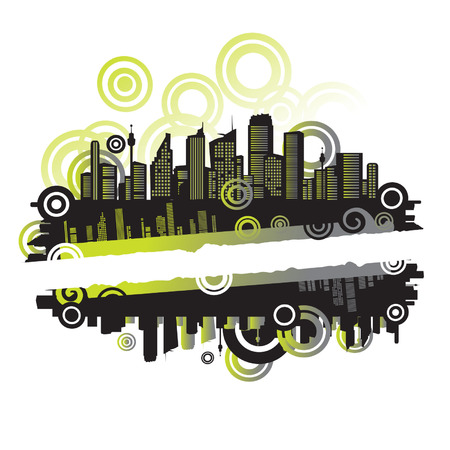 メトロポリス: 都市の景観、あなたのテキストのための場所と都市のフレーム