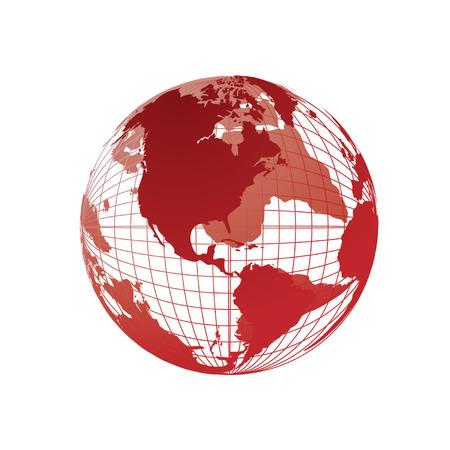 weltkugel asien: Weltkarte, Kugel 3D Illustration